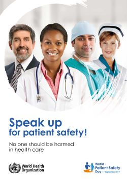 Poster for WHO Patient Safety Day